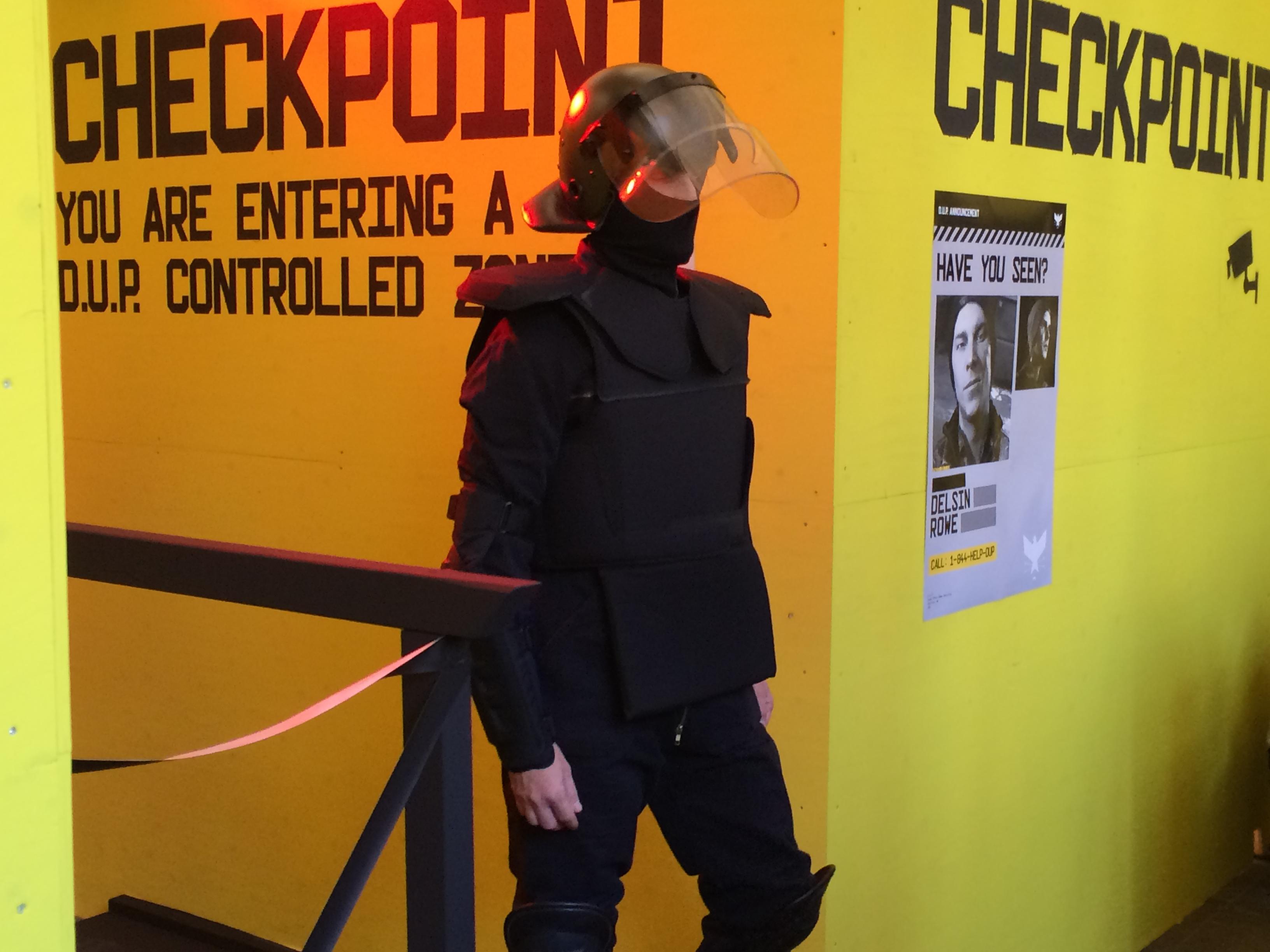 Die Kontroller am DUP-Checkpoint hab ich grad noch so überstanden...